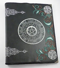 Wheel Of The Year Faux Leather Covered Ring Binder/File/BOS- Wiccan /Pagan/Witch