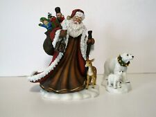 Christmas Past: Santa, Deer, and Polar Bear Figurine by D. Morgan & Roman, Inc.