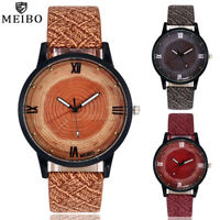 Women's Retro Casual Quartz Leather Band Stainless Steel Dial Analog Wrist Watch