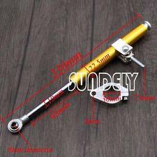 Gold 330 MM General Steering Damper Stabilizer For Honda Yamaha Kawasaki Stock