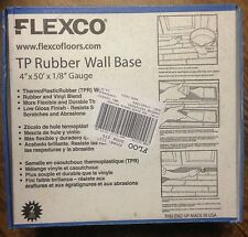 "Flexco 4""x1/8 x50' ThermoPlastic Rubber Wall Base* Black !New In Box! dry back"