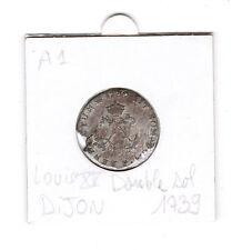 Double Sol 1739 Dijon Louis XV piece de monnaie ancienne France Louis 15