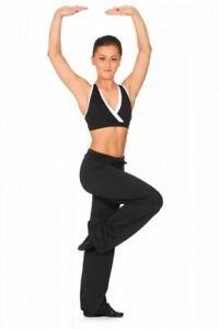 Dance Depot Black Draw String Jazz Pants Ladies Adult Sizes Drawstring Trousers