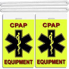 2x Medical CPAP IDs Tags Baggage Luggage TSA Carry-On BiPAP APNEA POC APAP