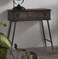 Vintage Industrial Console Table Side Metal Furniture Rustic Hall Retro Storage