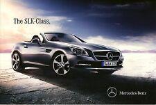 Mercedes Benz SLK Class 06 / 2013  catalogue brochure English