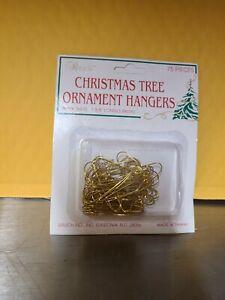 "75 Rauch CHRISTMAS TREE Ornament HANGERS Hooks -  Gold 1-3/8"""