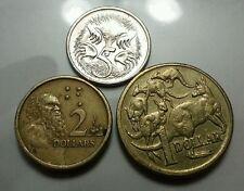 Willie: Australia 5cent,1 dollar and 2 dollar