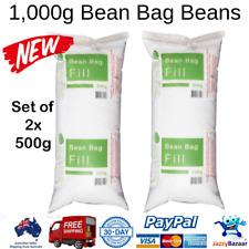 BULK 1000g Bean Bag Beans Balls Beads Filler Refill Filling Polystyrene Beads