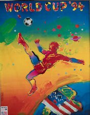 1994 Official FIFA World Cup Football Soccer Poster By Peter Max 1st Press Run