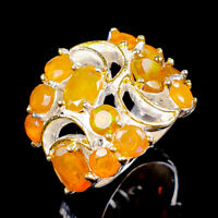 Rainbow7x5mm Natural Orange Opal 925 Sterling Silver Ring Size 6.25/R121906