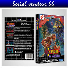 "BOX, CASE ""CASTLEVANIA"". Megadrive. BOX + COVER PRINTED. NO GAME. MULTILINGUAL."