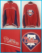 NWT Men's Philadelphia Phillies Full Zip Jacket Coat Big Logo Patch - Medium