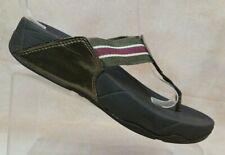 FitFlop Walkstar Brown Fitness Slide Thong Sandals 032-012 Women's 7 / EUR 38