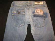 Taverniti Jeans Womens Courtney Distressed Bootcut Military Patch Sz 29 NEW $200
