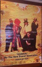 "40x60"" HUGE SUBWAY POSTER~New Power Generation (Prince) 1995 Exodus Original NOS"
