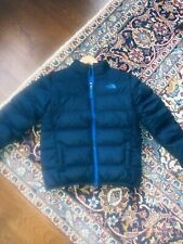 The North Face Boys Dark Blue 550 Goose Down Puffer Jacket Large 14/16 Full ZIP