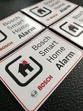 4x BOSCH SMART HOME ALARM | ALARMANLAGE | WARN HINWEIS AUFKLEBER STICKER SCHILD