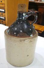 Vintage Stoneware Moonshine Whiskey Jug Crock With Wooden Cork â—‡ 1 Gallon