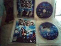 PS3 Rock Band1&2, Guitar Hero Warriors & World Tour & Green Day Rockband