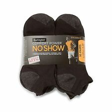 BURLINGTON Black MEN'S Comfort Power NO SHOW Sport Sock * 10 Pair Package * NEW