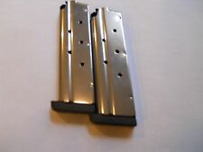 """1911 type, .40 cal. mag, magazine,mags, 1/4"""" base  2 mags,8 shot, stainless"""
