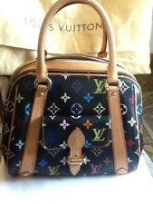 LOUIS VUITTON Monogram Multicolor Priscilla Handbag Black Excellent Cond.