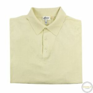 NWT Brioni Cream 100% Extrafine Wool Rib Knit MOP Piped Polo Sweater 52EU/L