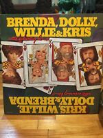 KRIS, WILLIE, DOLLY AND BRENDA THE WINNING HAND DOUBLE LP  Very Good CONDITION