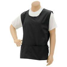 """Premium Uniforms Black Poly Cotton Cobbler Apron - 28'L x 20""""W"""