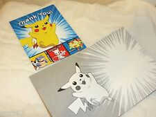 NEW 8 POKEMON PIKACHU THANK YOU NOTES WITH ENVELOPES PARTY SUPPLIES