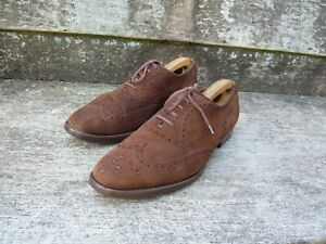 CHURCH'S VINTAGE BROGUES – BROWN / TAN SUEDE - UK 10 – BUCK –EXCELLENT CONDITION