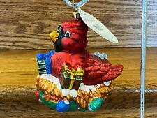 Christopher Radko Large Glass Christmas Ornament Red Cardinal Spruced Roost 2007