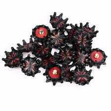 56pcs Red&Black Softspikes Golf Shoe Spikes Fast Twist Small Thread For FootJoy
