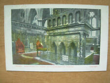 VINTAGE POSTCARD LONDON - WESTMINSTER ABBEY WITH CORONATION CHAIRS