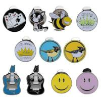 Metal Magnetic Golf Cap Hat Visor Clip Ball Marker Multiple Patterns Golfer Gift