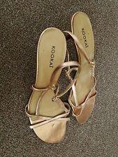 Kookai slip on sandals with small heel