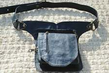 Black Leather Waist Pack, Festival Fanny Pack, Women Belt Bag, Men Utility Belt