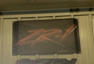 ZR1 Garage Banner , Heavy Duty Vinyl Coated.