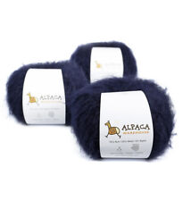 Superfine Suri Alpaca Yarn Wool Set of 3 Skeins Sport Weight