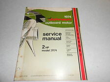 1974 2 hp Johnson Outboard Motor Repair & Service Manual Evinrude 2hp