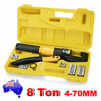 8 Ton Hydraulic Crimper Cable Lugs Wire Power Crimping Tools Pliers Kit 4mm-70mm