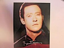 "Brent Spiner  ""Star Trek Data""   Replica 8 x 10 Autographed Photo"
