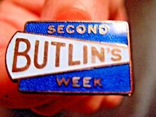 BUTLINS SECOND WEEK 1962  BADGE J.R GAUNT LONDON ~ EXCELLENT