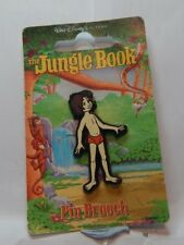 Vintage Disney Pin  Badge Jungle Book Mowgli Carded