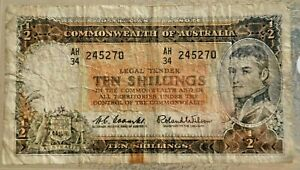 1961 TEN SHILLINGS--COOMBS & WILSON--COMMONWEALTH of AUST.--NO RESERVE-BID NOW