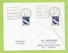 PALALDA 1967 Pyrénées-O. :Flamme DAGUIN en double frappe +Climat idéal Hiver Eté