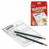 YAHTZEE GAME SCORE PADS 80 Cards Refill Pack For Dice Game Hasbro