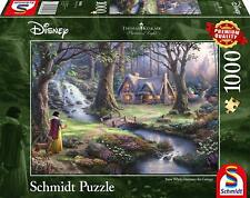 Snow White Discovers the Cottage: Schmidt Disney Premium Thomas Kinkade Jigsaw