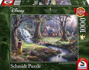 Snow White Discovers the Cottage: Schmidt Disney Premium Thomas Kinkade Jigsaw